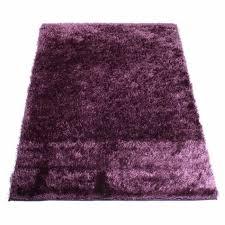 tapis aubergine pas cher tapis shaggy aubergine 50 x 90 cm achat vente tapis cdiscount