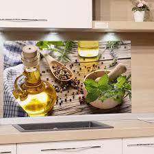 grazdesign spritzschutz glas für küche herd bild motiv grün