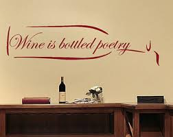 Kitchen Decor Wine Wall Decal