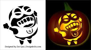 Minecraft Pumpkin Stencils Free Printable by 10 Best Free Minion Pumpkin Carving Stencils Patterns