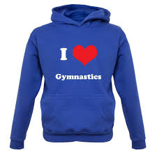 i love gymnastics childrens kids hoodie 7 colours ages 1
