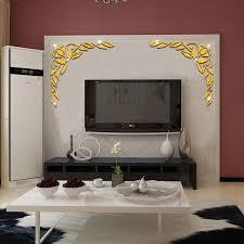 50x51 cm blumen muster spiegel wand tv wohnzimmer hintergrund wand dekoration spiegel wand beiträge