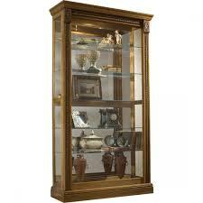 Pulaski Oak Corner Curio Cabinet by Furniture Estate Oak Mirrored Two Way Sliding Door Curio 20484