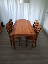 esszimmer tisch und stühle kiefer gelaugt geölt