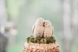 Wooden Owl Cake Topper