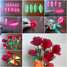 Flower Making With Crepe Paper Step By Make Roses Diy Tutorial Instructions Coriver