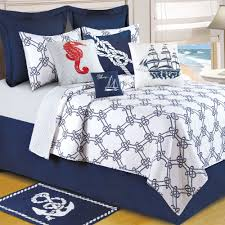 Twin Bed In A Bag Sets by Knotty Buoy Cotton Nautical Quilt Bedding