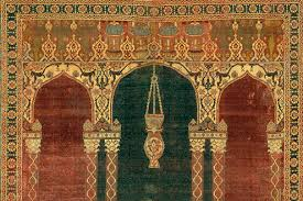 Prayer Carpet With Triple Arch Design