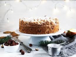 winter wunderland haselnuss spekulatius apfelkuchen mit