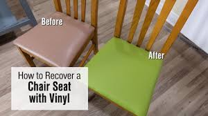 How To Re-cover A Chair Seat With Faux Leather / Vinyl Fabric