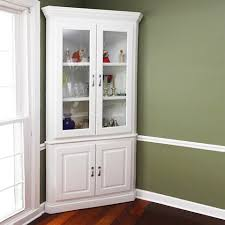 Brilliant Corner Cabinet Dining Room Hutch Storage With