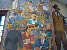 Coit Tower Murals Diego Rivera by The Exploiters Diego Rivera 1926 Diego Rivera