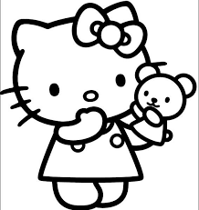 Coloring Hello Kitty Pages On Book