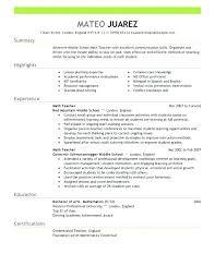 Sample Substitute Teacher Resume For Best Of Easy