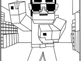 Minecraft Color Page Awesome Free Coloring Pages 13 On