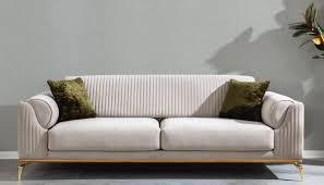 casa padrino luxus deco sofa hellgrau braun gold 230 x 100 x h 92 cm edles wohnzimmer sofa mit dekorativen kissen luxus deco möbel
