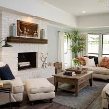 Renovated Living Room With Dark Wood Flooring