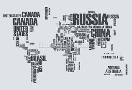 Wall Mural Decals Canada by World Map Word Cloud Wallpaper Wall Mural Wallsauce Canada