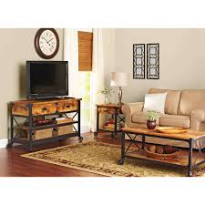 Better Homes And Gardens Rustic Country Living Room Set Walmart In Coffee Table