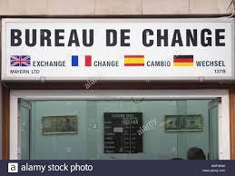 bureau de change 2 bureau de change change shop gibraltar uk stock photo royalty