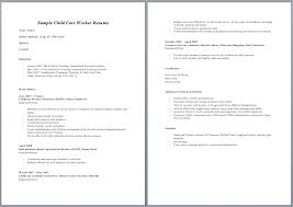 Child Care Worker Description Resume Amazing Examples For Example