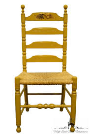 Details About AUTHENTIC HITCHCOCK Stenciled Ladder Back Accent Side Chair  W. Rush Seat 6 Ladder Back Chairs In Great Boughton For 9000 Sale Birch Ladder Back Rush Seated Rocking Chair Antiques Atlas Childs Highchair Ladderback Childs Highchair Machine Age New Englands Largest Selection Of Mid20th French Country Style Seat Side By Hickory Amina Arm Weathered Oak Lot 67 Set Of Eight Lancashire Ladderback Chairs Jonathan Charles Ding Room Dark With Qj494218sctdo Walter E Smithe Fniture Design A 19th Century Walnut High Chair With A Stickley Rush Weave Cape Ann Vintage Green Painted