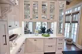 White Kitchen Unit Doors Glamorous 20 Glass Front 2017 Decorating Design Of