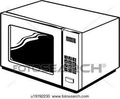 Clipart appliance kitchen microwave Fotosearch Search Clip Art