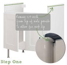 Ikea Domsjo Double Sink Cabinet by How To Undermount Ikea U0027s Domsjo Sink