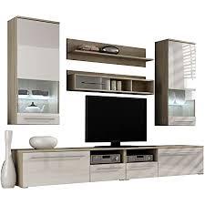 wohnwand anbauwand farbauswahl modernes wohnzimmerschrank inkl tv lowboard vitrine wandregal design mediawand wohnzimmer set mit blauer