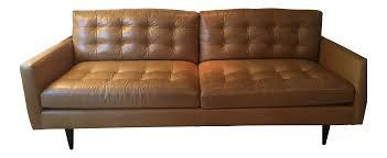 Crate And Barrel Petrie Sofa Slipcover by Crate U0026 Barrel Petrie Leather Sofa Chairish