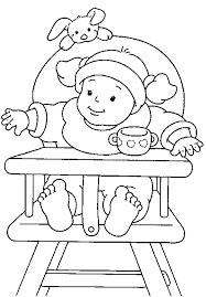 Chair Baby Coloring Pages