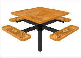 exteriors metal picnic table legs octagonal wooden garden table