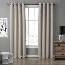 gwell oxford gardinen ösenschal vorhang mit ösen gardine für wohnzimmer schlafzimmer 8 farben 1er pack beige 220x140cm hxb