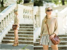 summer tan boatneck sweater striped shorts u0026 lace up wedges