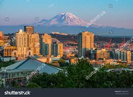 100 Beautiful Seattle Pictures Evening Mt Rainer Stock Photo Edit Now 299881847