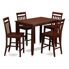 East West Furniture Buckland 5 Piece Pub Table Set - Counter Height ...