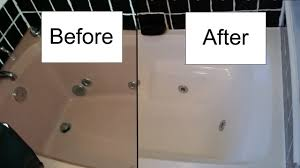 bathtub refinishing service process to make old bathtub in new