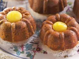 Individual Pistachio Bundt Cakes with Lemon Curd Filling Recipe