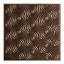 Fasade Ceiling Tiles Menards by Fasade Ceiling Tile 2x2 Suspended Cyclone In Argent Bronze