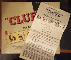 Image Is Loading 1949 50 Parker Brothers Clue Board Game Pieces