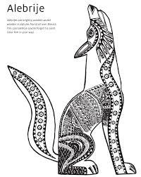 Strikingly Design Ideas Coyote Animal Coloring Pages Alebrije Book Page