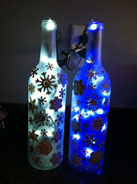 Decorative Wine Bottles Crafts by 15 Best Christmas Wine Bottles Images On Pinterest Christmas