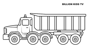 100 Truck Drawing Big Dump Truck Coloring Book For Kids YouTube