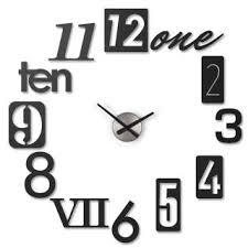 umbra wall display numbra wall clock kitchen clock house clock clock numbers metal black 118430040 at about tea de shop