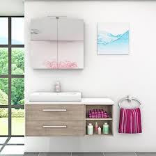 badmöbel set city 205 v1 eiche braun badezimmermöbel waschtisch 120 cm nein ohne led beleuchtung