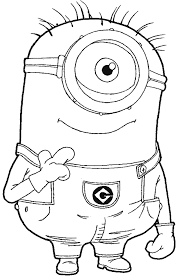 Surprising Despicable Me Drawing Minions With Coloring Pages And Banana
