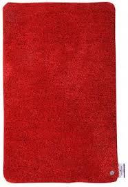 tom tailor badezimmer teppich soft bath rot blattschussdie