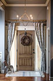 Restoration Hardware Curtain Rod Extension by Curtains Over The Front Door Foyer Add Privacy And Style