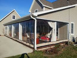 Vinyl Patio Curtains Outdoor by Clear Plastic Enclosures For Outdoors Intended For Clear Vinyl